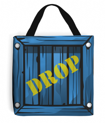 Stuff Tote Bag Based on Fortnite's Supply Drop Crate